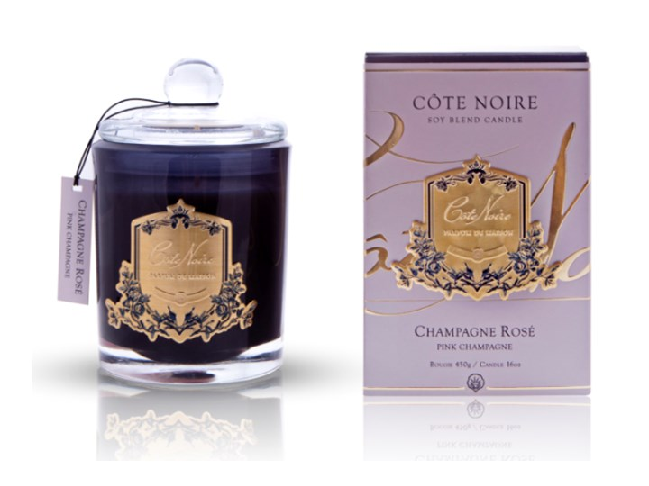 Sojowa Świeca Zapachowa Cote Noire Pink Champaigne 450g Kategoria Świeczniki i świece