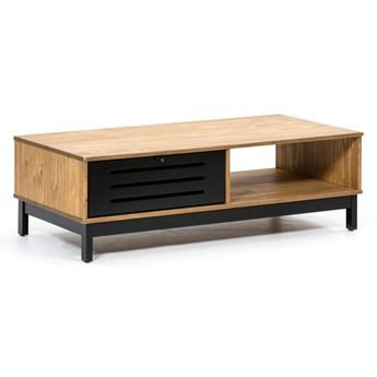 Drewniany stolik z czarnymi elementami Marckeric Alessia