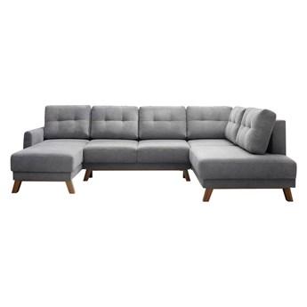 Szara sofa rozkładana w kształcie U Bobochic Paris Balio, prawostronna