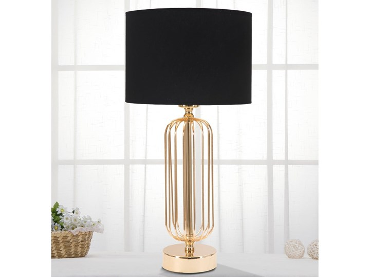 Lampa stołowa w kolorze czarno-złotym Mauro Ferretti Glam Towy, wysokość 51 cm Kolor Czarny Lampa z abażurem Lampa z kloszem Kategoria Lampy stołowe
