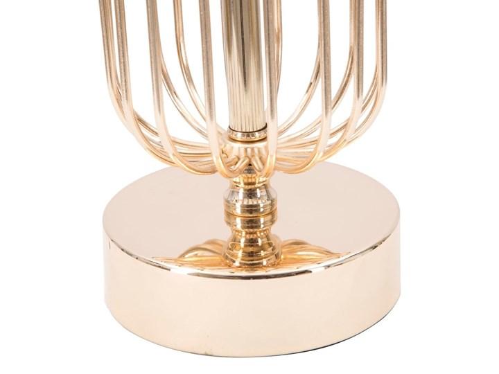 Lampa stołowa w kolorze czarno-złotym Mauro Ferretti Glam Towy, wysokość 51 cm Lampa z kloszem Lampa z abażurem Kolor Czarny