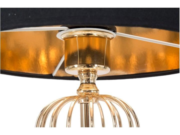 Lampa stołowa w kolorze czarno-złotym Mauro Ferretti Glam Towy, wysokość 51 cm Lampa z kloszem Lampa z abażurem Kolor Czarny Kategoria Lampy stołowe