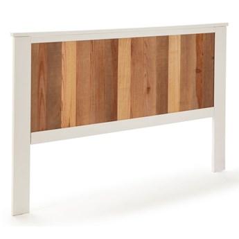 Biały zagłówek z elementami w dekorze drewna Marckeric Maude