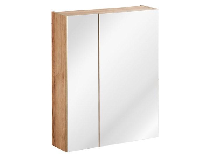 Zestaw podwieszanych szafek łazienkowych - Malta 2Q Dąb 80 cm Kategoria Zestawy mebli łazienkowych Kolor Beżowy