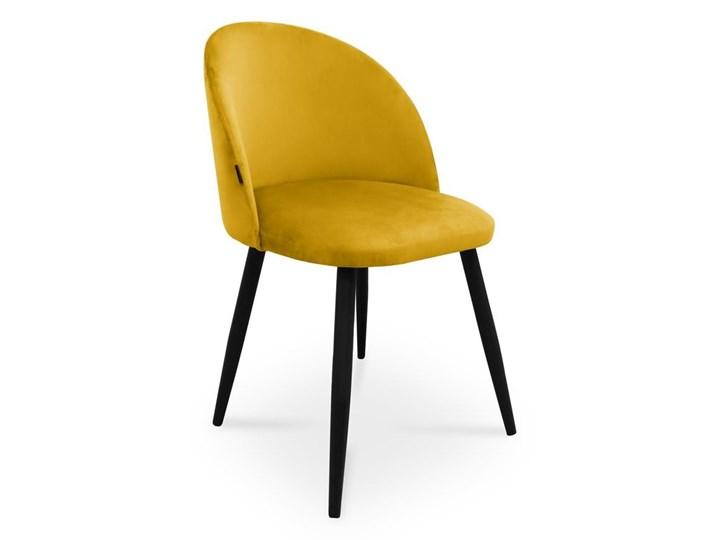 Bettso krzesło SONG / miodowy / noga czarna / MG15