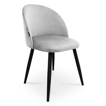 Bettso krzesło SONG / jasny szary / noga czarna / MG39