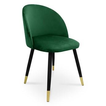 Bettso krzesło SONG / zieleń butelkowa / noga czarno-złota / MG25