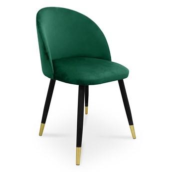 Bettso krzesło SONG / morski / noga czarno-złota / MG20