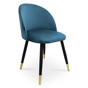 Bettso krzesło SONG / niebieski / noga czarno-złota / MG33
