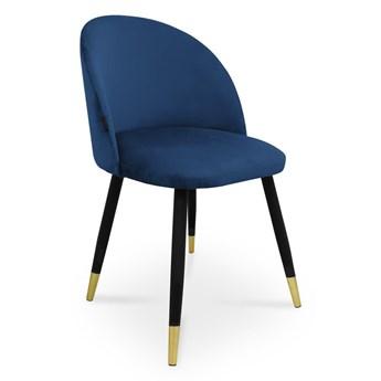 Bettso krzesło SONG / granatowy / noga czarno-złota / MG16