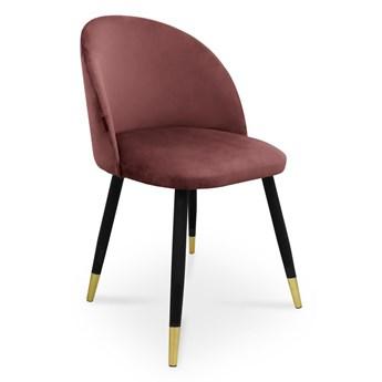Bettso krzesło SONG / ciemny róż / noga czarno-złota / MG58