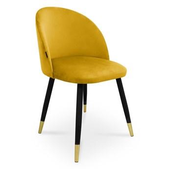 Bettso krzesło SONG / miodowy / noga czarno-złota / MG15