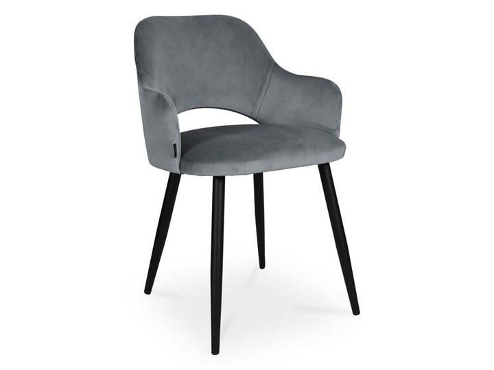 Bettso krzesło MARCY / ciemny szary / noga czarna / BL14