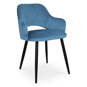 Bettso krzesło MARCY / niebieski / noga czarna / MG33