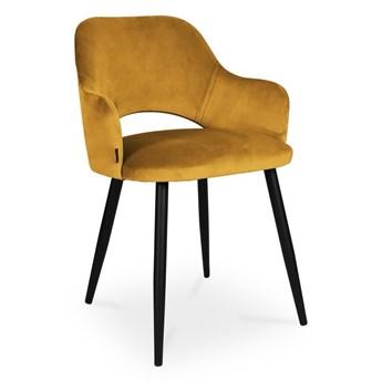 Bettso krzesło MARCY / miodowy / noga czarna / MG15
