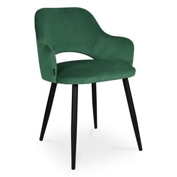 Bettso krzesło MARCY / zielony / noga czarna / MG25