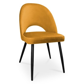 Bettso krzesło POLO / miodowy / noga czarna / MG15
