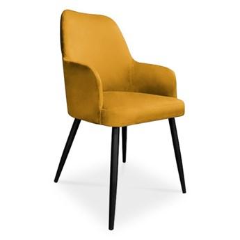 Bettso krzesło EMMA / miodowy / noga czarna / MG15