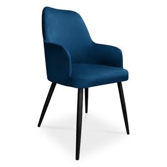 Bettso krzesło EMMA / granatowy / noga czarna / MG16