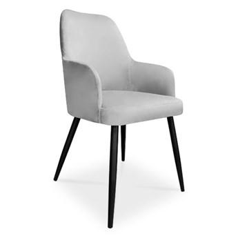Bettso krzesło EMMA / jasny szary / noga czarna / MG39