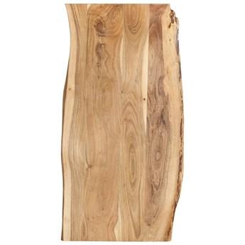 VidaXL Blat, lite drewno akacjowe, 120x(50-60)x2,5 cm