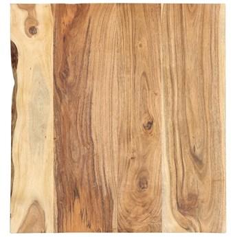 VidaXL Blat, lite drewno akacjowe, 60x(50-60)x2,5 cm