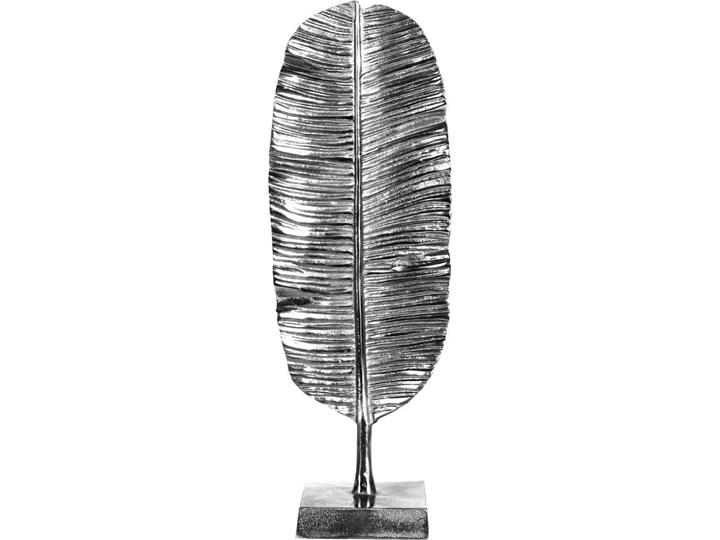 Dekoracja Figurka Lisc Metal Kolor Szary
