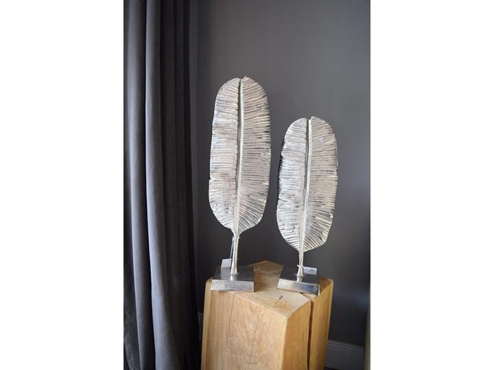 Dekoracja Figurka Lisc Metal Kategoria Figury i rzeźby Kolor Srebrny