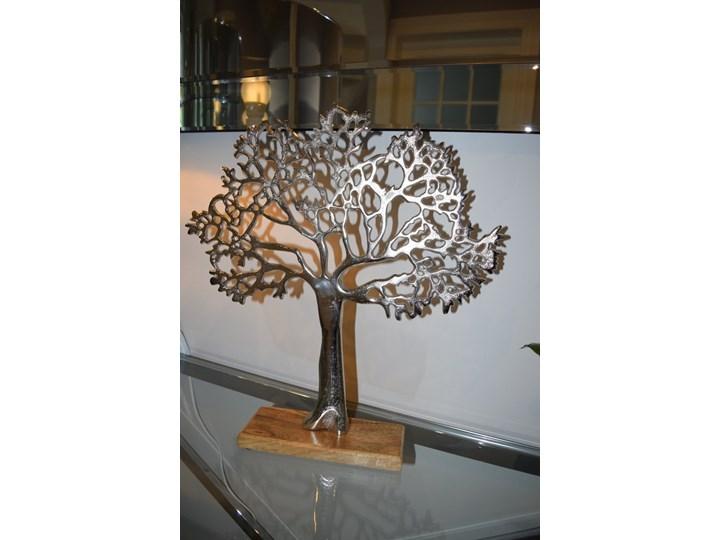 Dekoracja Figurka Drzewko Szczescia Drewno Metal Kategoria Figury i rzeźby