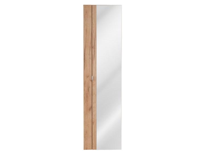 Pionowa podwieszana szafka łazienkowa z lustrem - Malta 6X Dąb Szafki Wysokość 170 cm Drewno Wiszące Szerokość 45 cm Kolor Beżowy