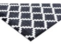 Czarno-biała wycieraczka Hanse Home Elegance, 50x70 cm Kolor Czarny Tworzywo sztuczne Kolor Biały