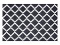 Czarno-biała wycieraczka Hanse Home Elegance, 50x70 cm Tworzywo sztuczne Kolor Czarny Kolor Biały