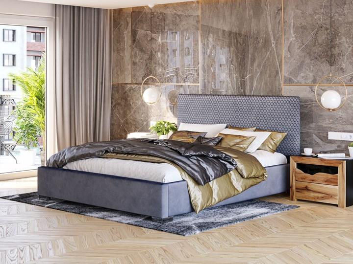 ŁÓŻKO TAPICEROWANE DO SYPIALNI 180X200 SF090 POPIEL WELUR Kolor Szary Kategoria Łóżka do sypialni