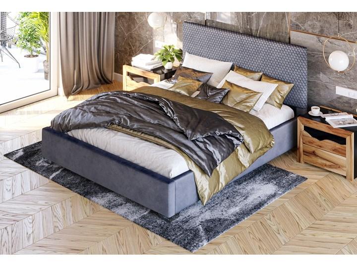 ŁÓŻKO TAPICEROWANE DO SYPIALNI 180X200 SF090 POPIEL WELUR Kategoria Łóżka do sypialni