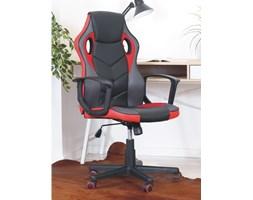 Designerski fotel gamingowy obrotowy VIPER czarno-czerwony