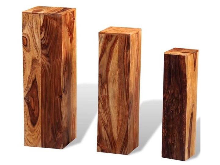 Komplet kwietników z drewna sheesham - Nadil Drewno Kategoria Doniczki i kwietniki