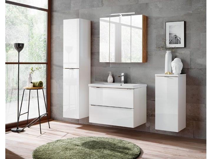 Podwieszana szafka łazienkowa pod umywalkę - Malta 3X Biały połysk 60 cm Wysokość 57 cm Wiszące Szafki Kategoria Szafki stojące