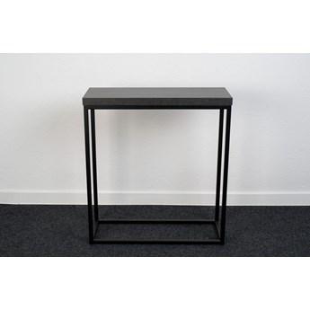 Elegancka czarna konsola do przedpokoju 70x25 cm MILO1M wytrawny szary kamień 3,6