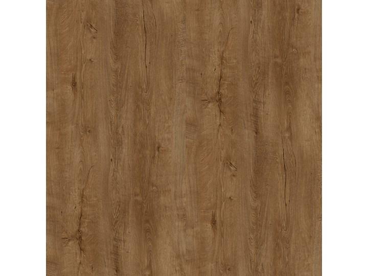 Industrialny stół okrągły RING X 110 Dąb Lefkas ciemny Drewno Stal Metal Wysokość 74 cm Długość 110 cm  Szerokość 110 cm Rozkładanie