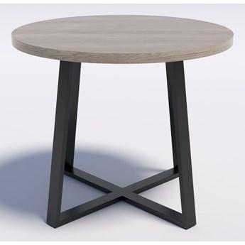 Industrialny stół okrągły RING X 90 Dąb brunico