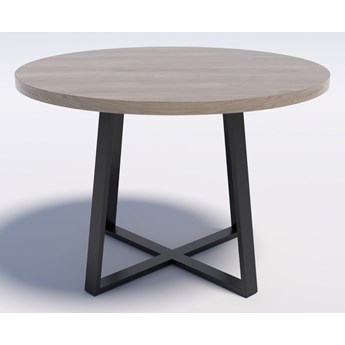 Industrialny stół okrągły RING X 110 Dąb brunico