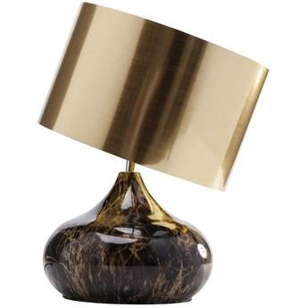 Lampa stołowa Mamo Deluxe 30x41 cm brązowo-czarna - klosz złoty