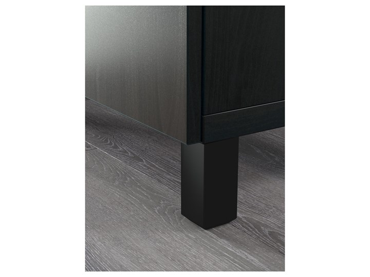 IKEA BESTÅ Kombinacja z drzwiami, Czarnybrąz/Lappviken/Stubbarp czarnybrąz, 180x42x74 cm Pomieszczenie Salon Z szafkami Płyta MDF Głębokość 42 cm Wysokość 42 cm Szerokość 180 cm Kategoria Komody