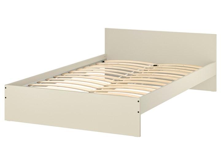 IKEA GURSKEN Rama łóżka, zagłówek, jasnobeżowy/Luröy, 140x200 cm Łóżko drewniane Pojemnik na pościel Bez pojemnika Zagłówek Z zagłówkiem