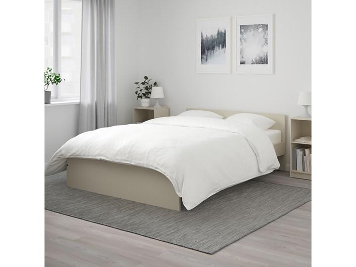 IKEA GURSKEN Rama łóżka, zagłówek, jasnobeżowy/Luröy, 140x200 cm Łóżko drewniane Kategoria Łóżka do sypialni