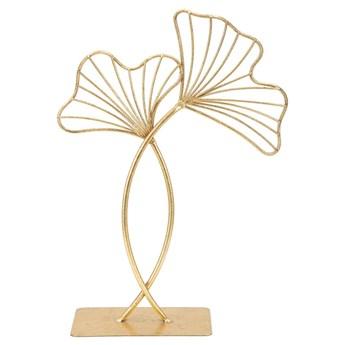 Dekoracja w złotym kolorze Mauro Ferretti Leaf Glam, wysokość 35 cm