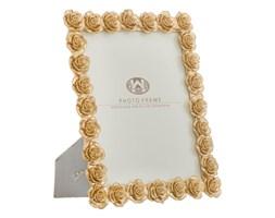 Ramka na zdjęcie w kolorze złota z motywem róż Mauro Ferretti, 25,5x31 cm