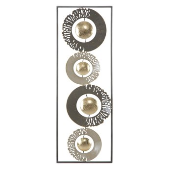 Metalowa dekoracja ścienna Mauro Ferretti Ring, 31x89,5 cm