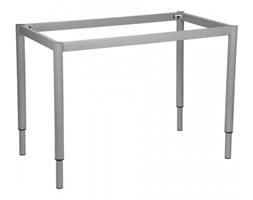 Stelaż ramowy regulowany na wysokość, 116x66 cm - noga okrągła. Do stołu lub biurka.