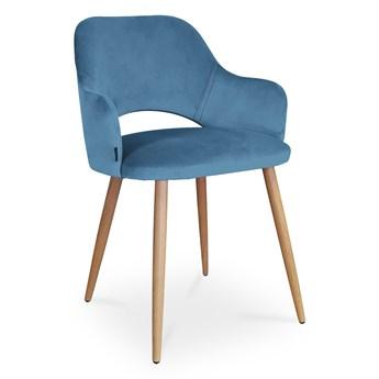Bettso krzesło MARCY / niebieski / noga dąb / MG33